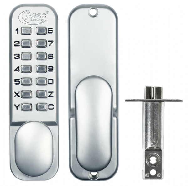 ASEC AS2300 Series Digital Lock With Optional Holdback Satin